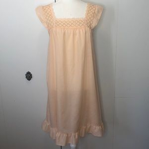 Vintage peach eyelet nightgown
